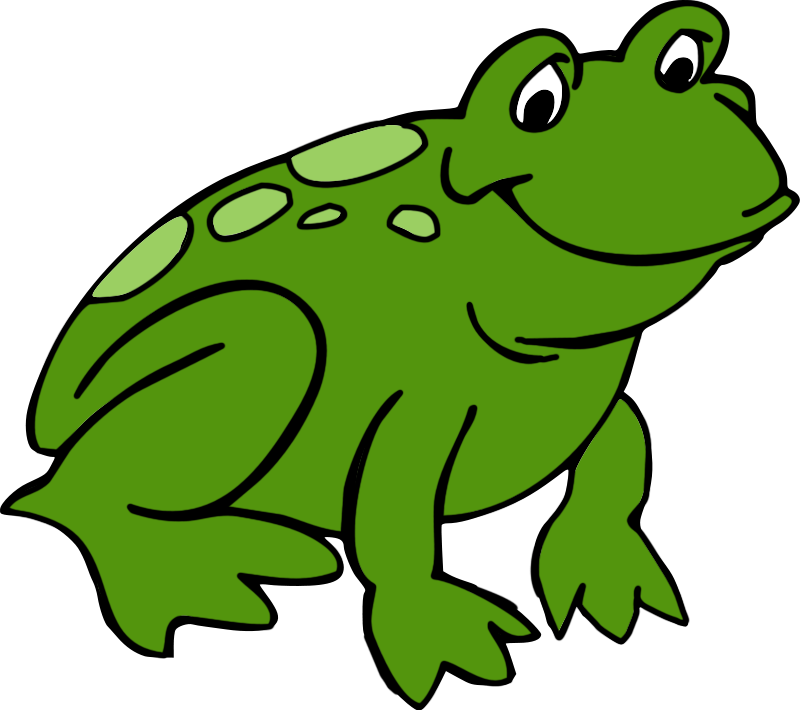 Cute frog clipart - Clipart Frogs