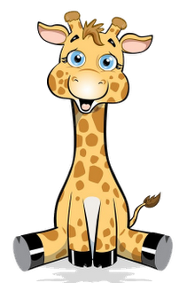 Cute giraffe, Clip art and .