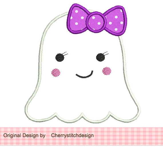 Cute Girl . - Cute Ghost Clipart