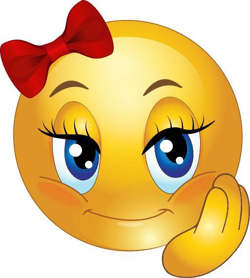 Cute Girl Smiley Faces   Cute Pretty Gir-Cute Girl Smiley Faces   Cute Pretty Girl Smiley Emoticon Clipart - Royalty Free Public Domain-2