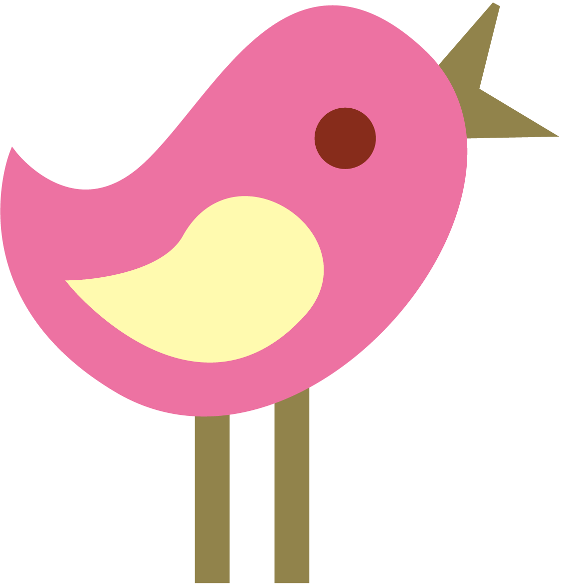 Cute Girly Bird Clipart