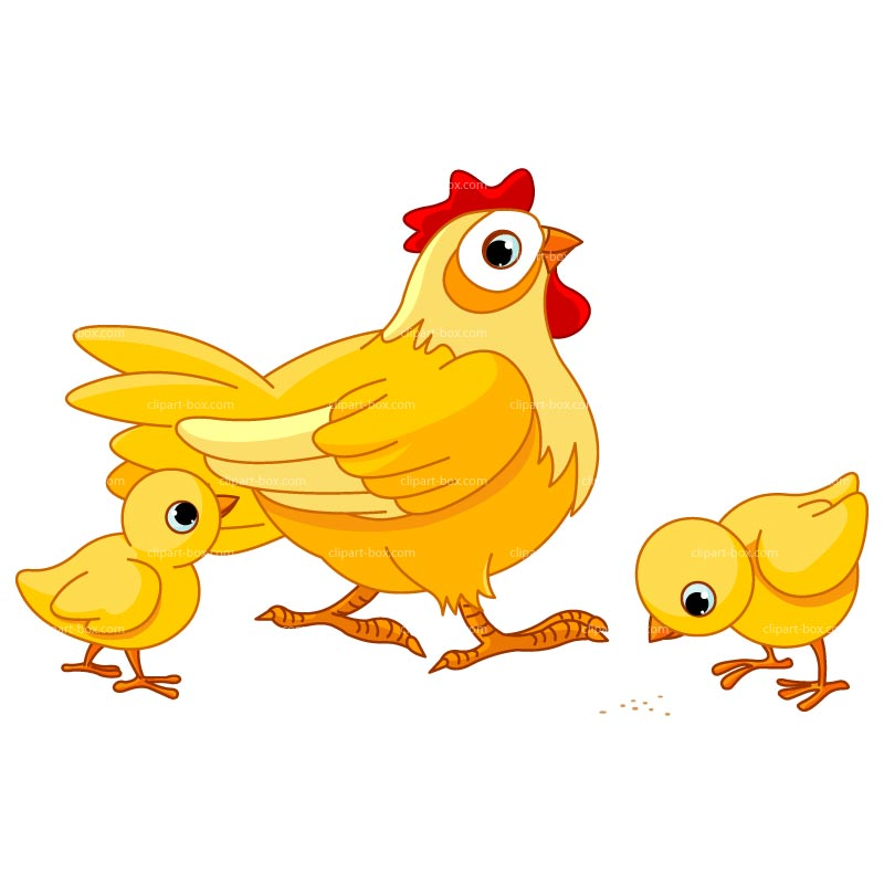 Cute graphic chicks clipart 2