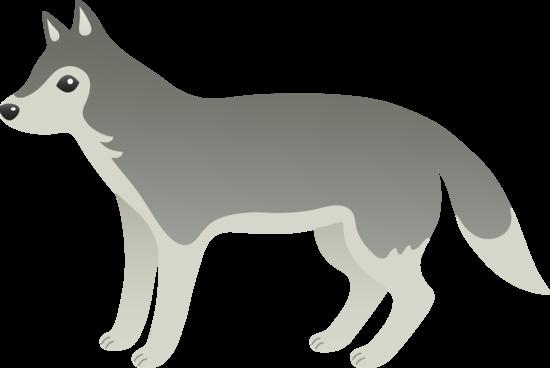 Cute Grey Wolf Free Clip Art
