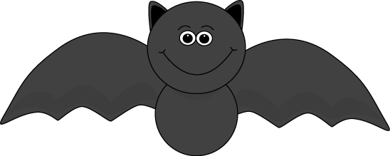 Cute Halloween Bat Clip Art Image Cute Black Halloween Bat With A