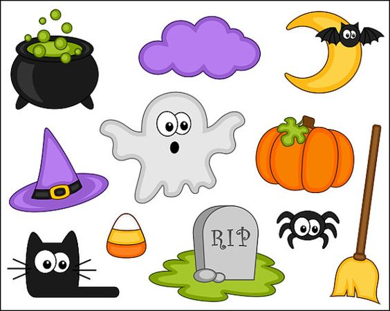 Cute Halloween Clipart Digital Clip Art -Cute Halloween Clipart Digital Clip Art Pumpkin by YarkoDesign-14