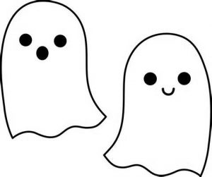 Cute Halloween Ghost Clip Art