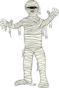 Cute Halloween Mummy Clip Art Mummy Clipart Image Spooky