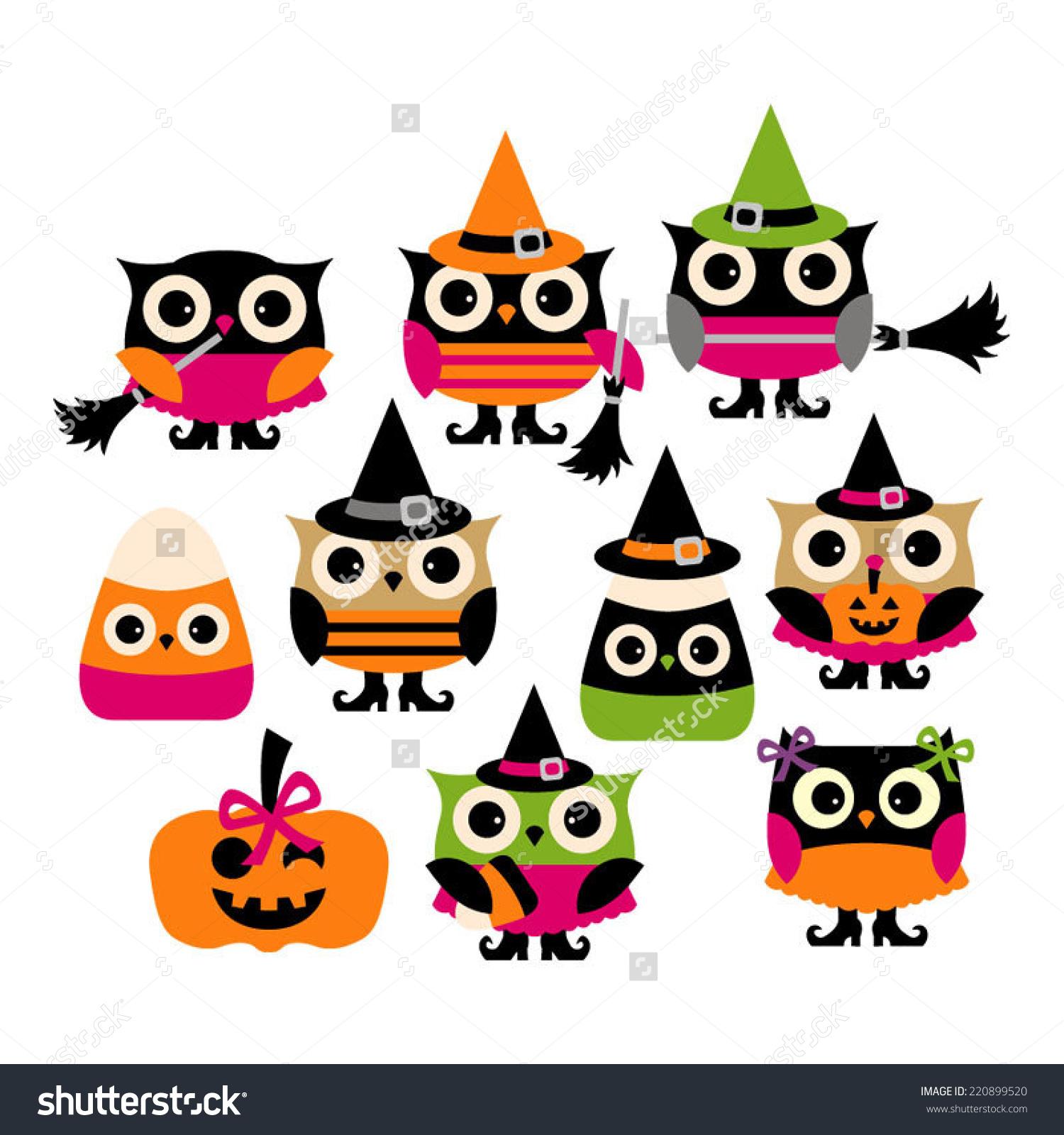 Cute Halloween Owl Vector Clip .-Cute Halloween Owl Vector Clip .-3