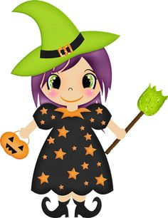 Cute Halloween Witches Clipart-Cute halloween witches clipart-2