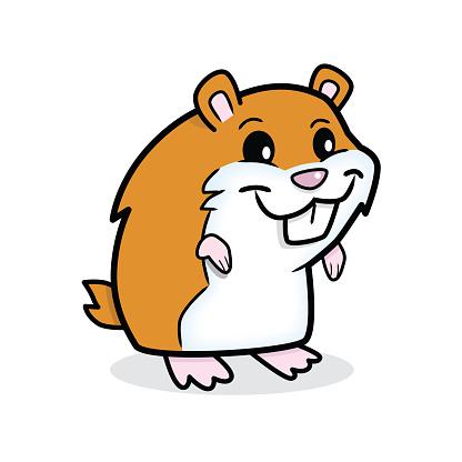 Cute Hamster vector art .