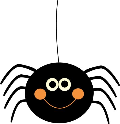Cute Hanging Halloween Spider Clip Art --Cute Hanging Halloween Spider Clip Art - Cute Hanging Halloween Spider Image-4