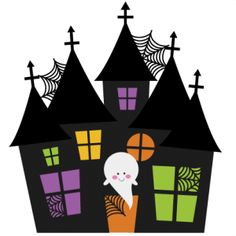 Cute Haunted House Clipart .-Cute Haunted House Clipart .-12