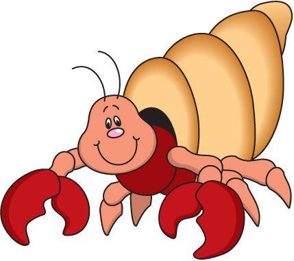 Hermit crabs clipart