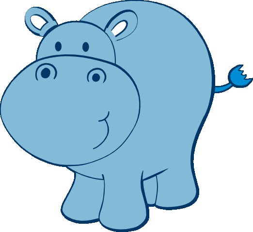 Cute Hippo Free Svg Clipart Pinterest Elephants And Blue