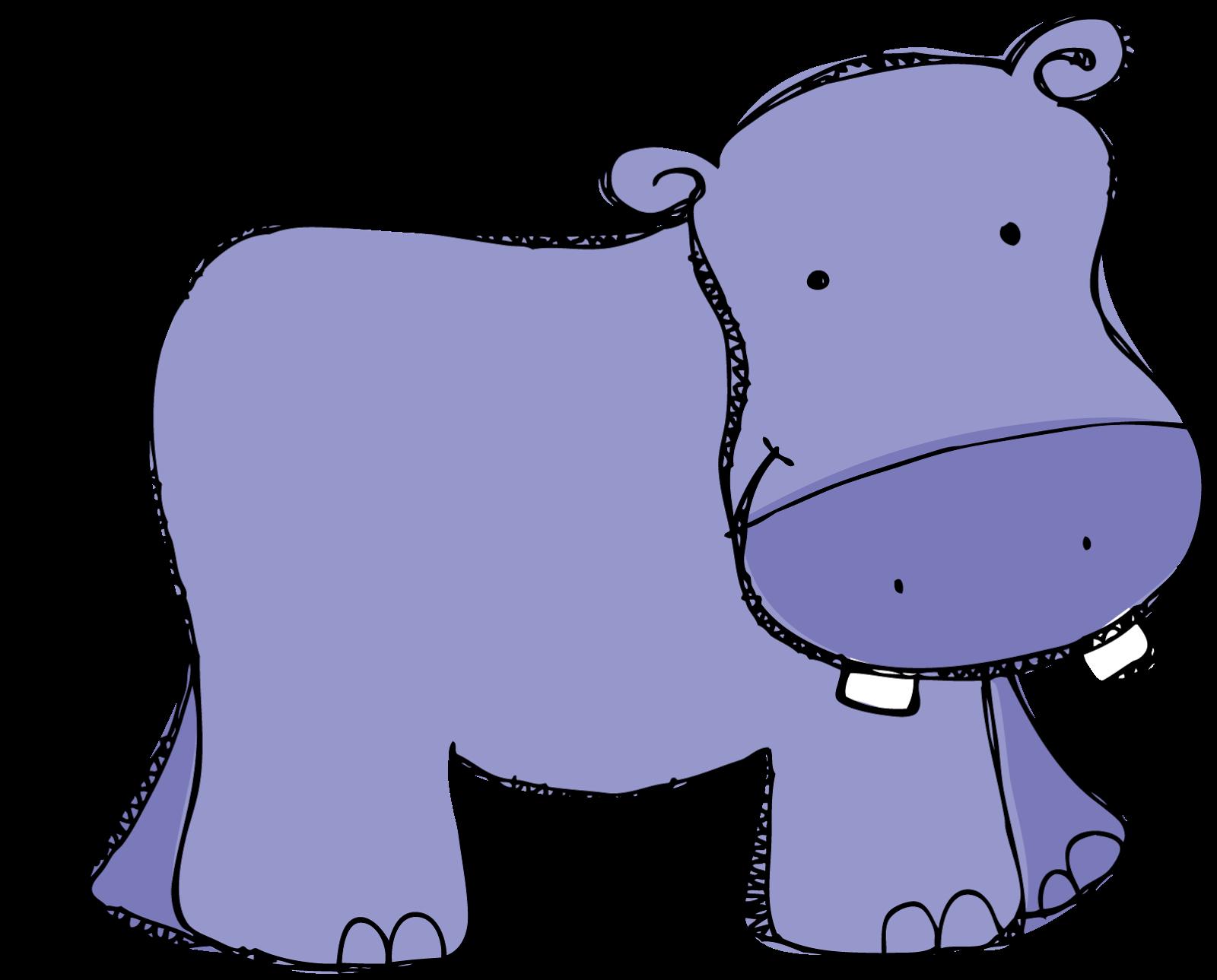 Cute Hippopotamus Clipart - Clip Art Hippo