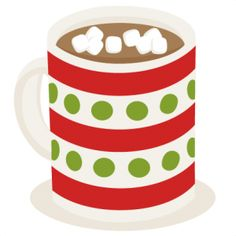 Cute hot chocolate clipart