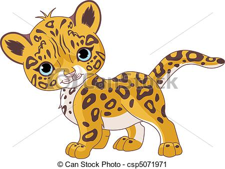 ... Cute Jaguar Cub - Illustration Of Cu-... Cute Jaguar Cub - Illustration of Cute Jaguar (Panther) Cub.-1