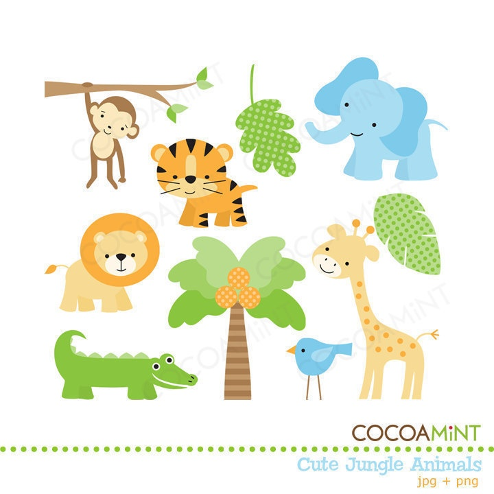 Cute Jungle Animals Clip Art Jungle Animals Jungles And Clip Art