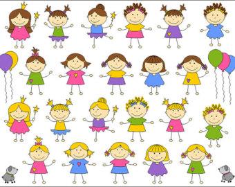 Cute Kids Digital Clip Art, .