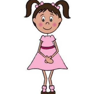 Cute Little Girl Clip Art ..