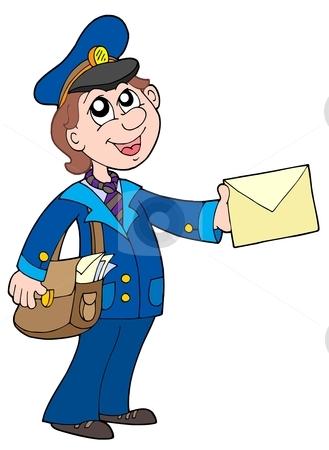Cute mailman clipart - .