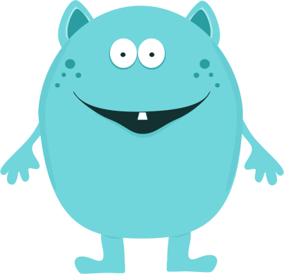 Cute Monster Clip Art Image Cute Turquoise Monster With One Tooth