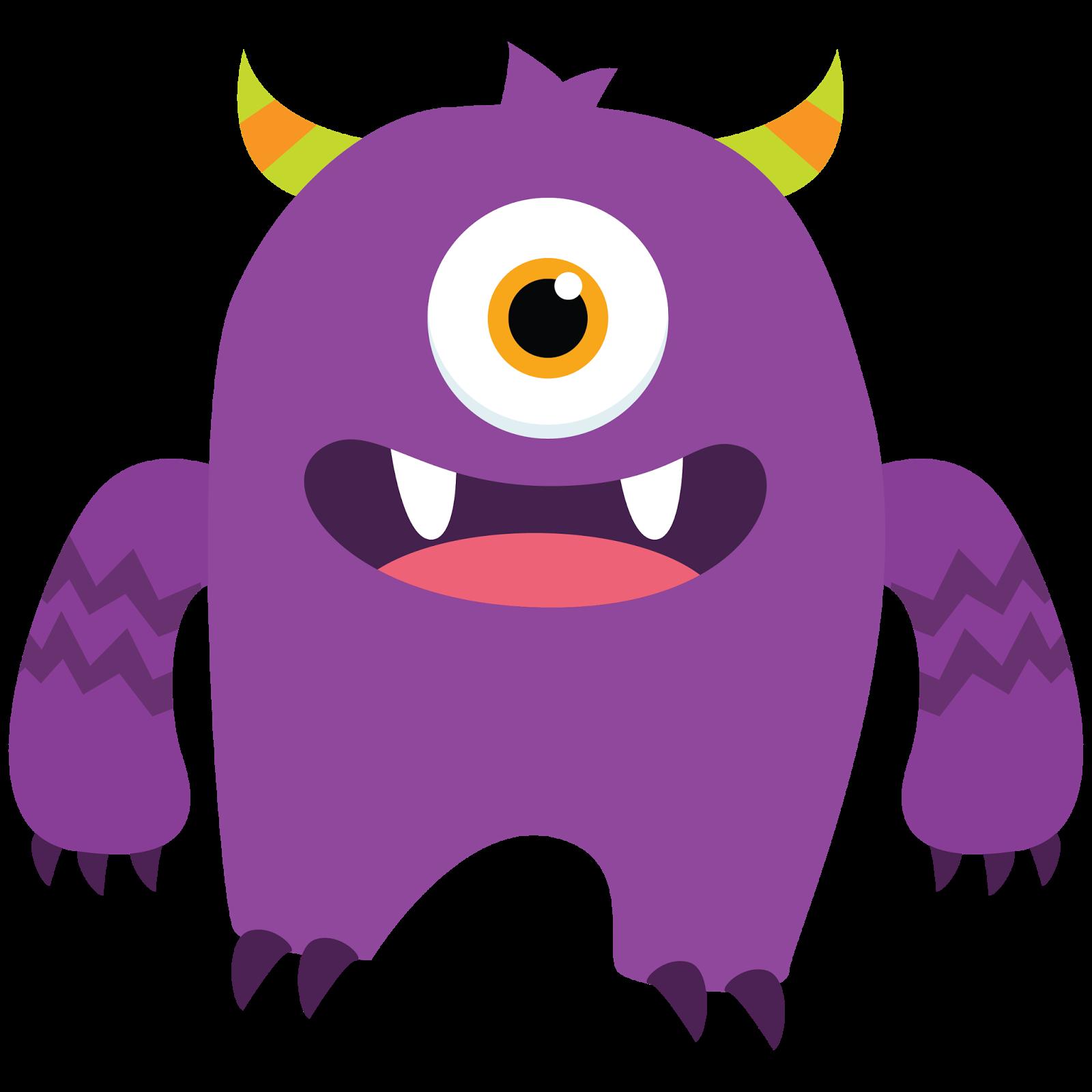 Cute monster clipart vectors .-Cute monster clipart vectors .-4