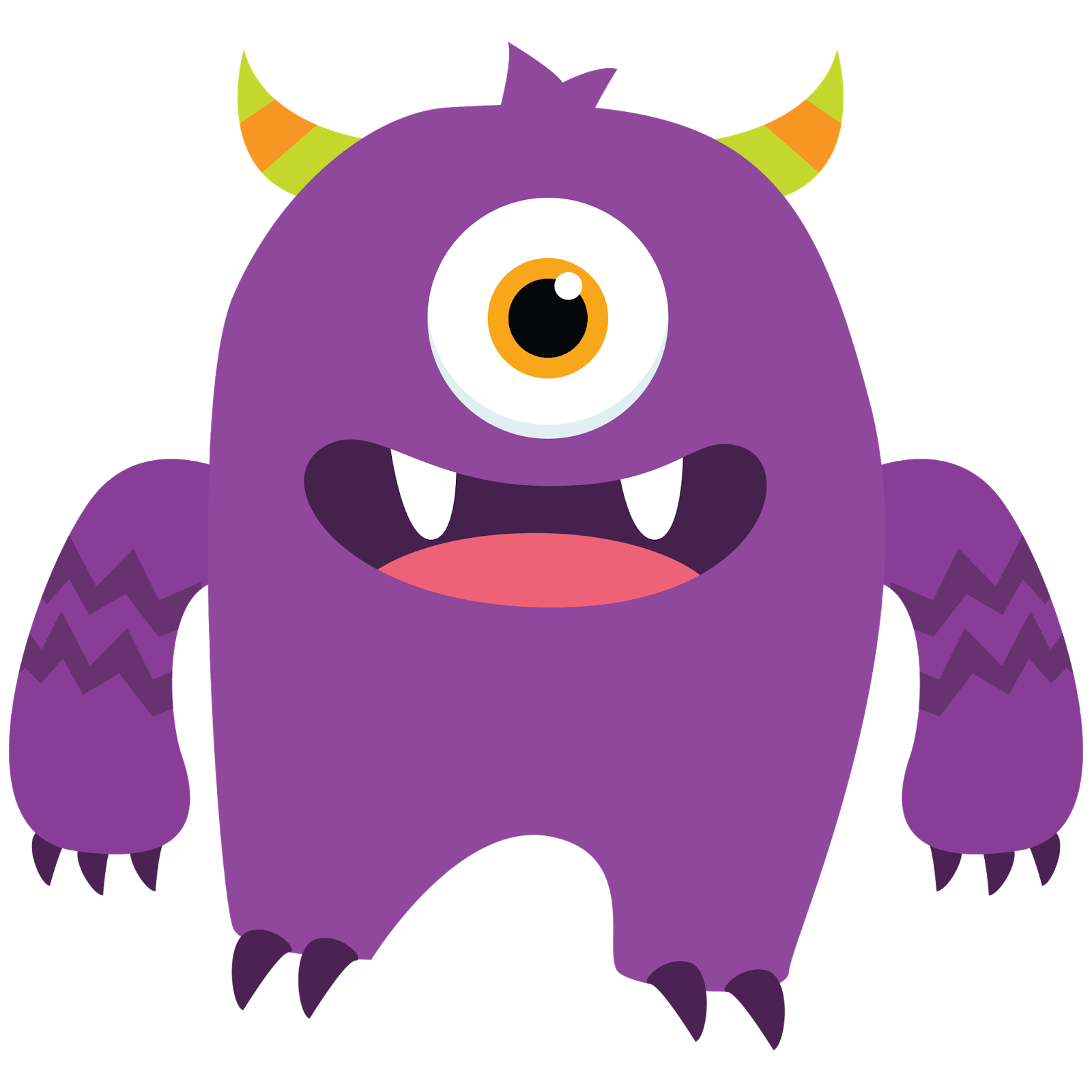 Cute monster clipart vectors .