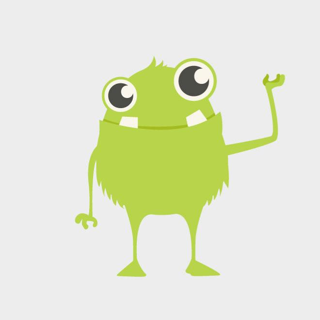 Cute Monster Vector Clip Art Download At Vectorportal