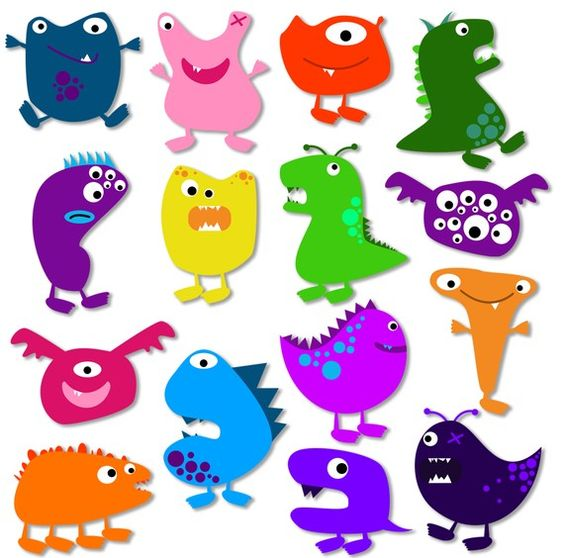 Cute Monsters Clip Art Clipart .