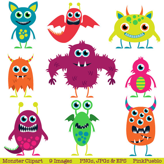 Cute Monsters Clip Art Clipart .-Cute Monsters Clip Art Clipart .-14