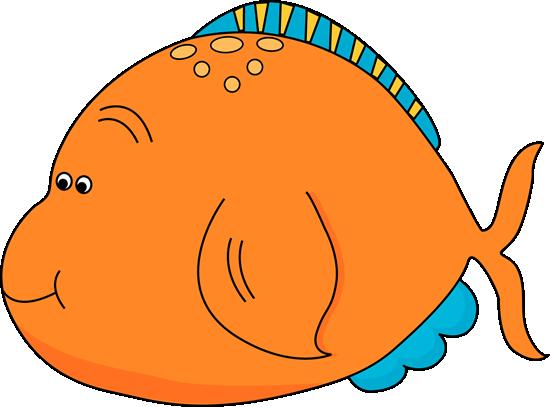 Cute Orange Fish Clip Art - Cute Orange Fish Image