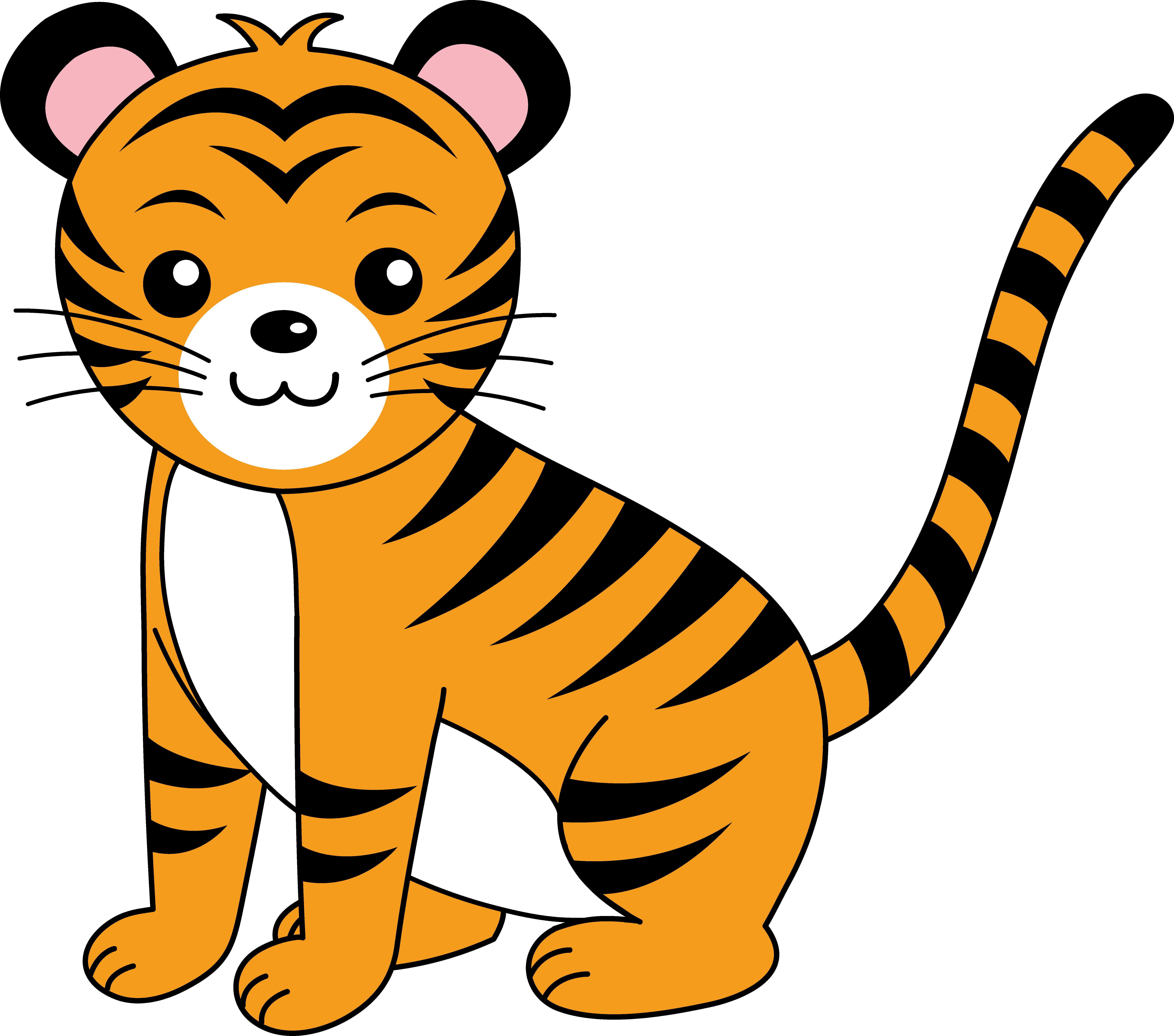 Cute Orange Tiger Cub - Free Clip Art-Cute Orange Tiger Cub - Free Clip Art-12