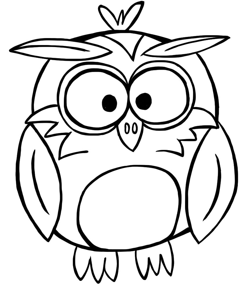 Cute Owl Black And White Clipart-cute owl black and white clipart-6