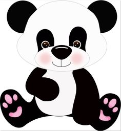 Cute panda bear clipart - ClipartFest