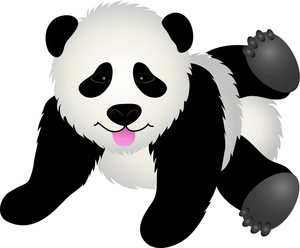Cute Panda Bear Clipart Vector