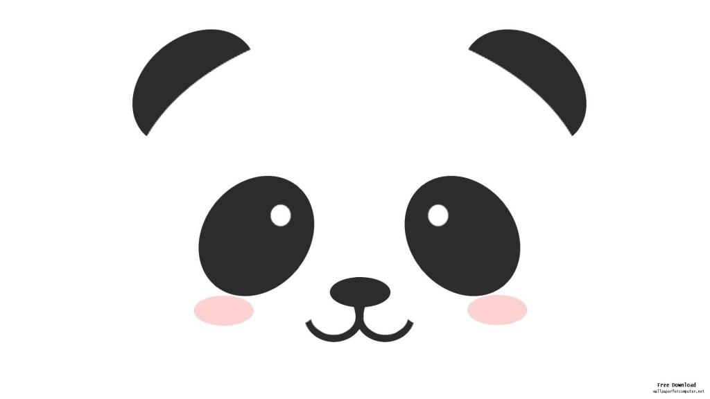 Cute panda clipart .