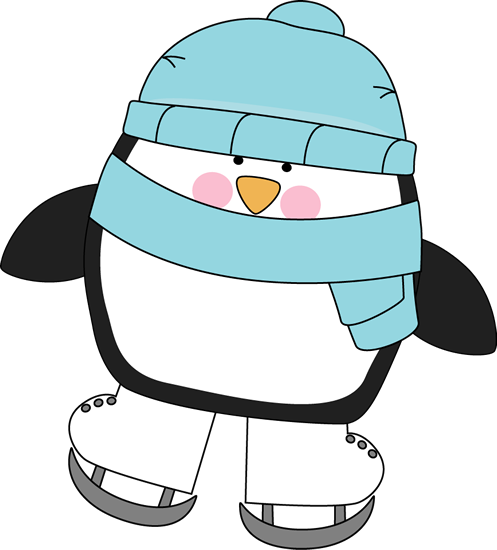 Cute Penguin Ice Skating