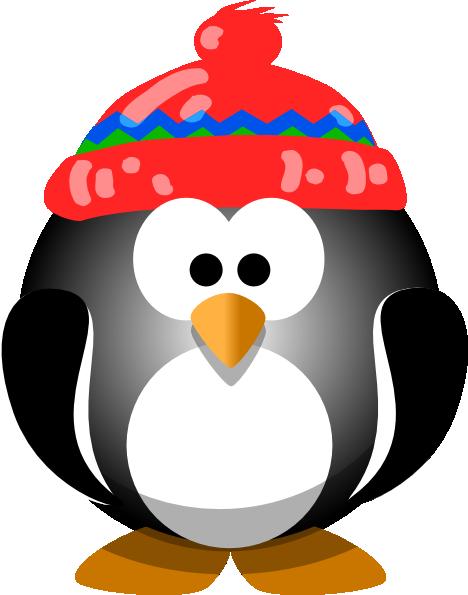 Cute Penguin With Hat Clip Art At Clker Com Vector Clip Art Online