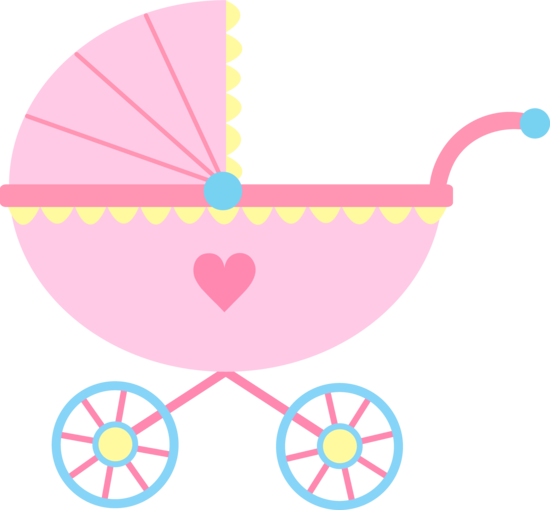 Cute Pink Baby Carriage - Free Clip Art-Cute Pink Baby Carriage - Free Clip Art-8
