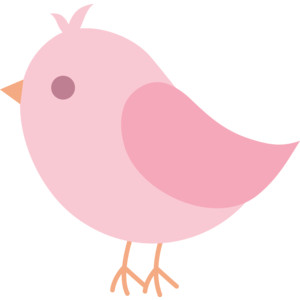 Cute Pink Bird Clip Art Free .