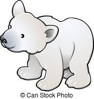 ... Cute Polar Bear Vector Illustration - A vector illustration.