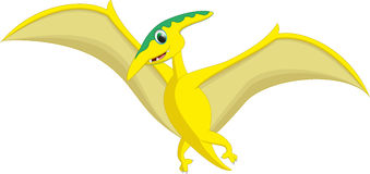 Cute pterodactyl cartoon .