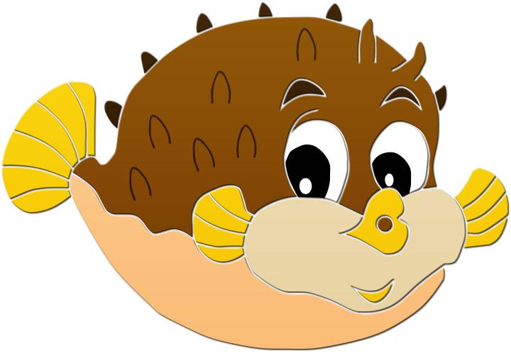Cute Puffer Fish Clipart Free Clip Art I-Cute Puffer Fish Clipart Free Clip Art Images-0