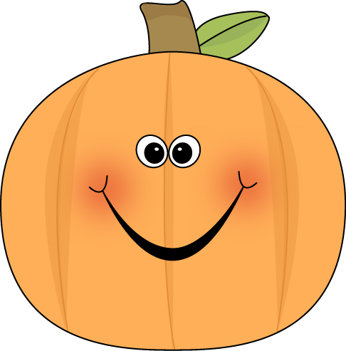 Cute Pumpkin Clip Art Image Cute Pumpkin With A Happy Face And Rosy