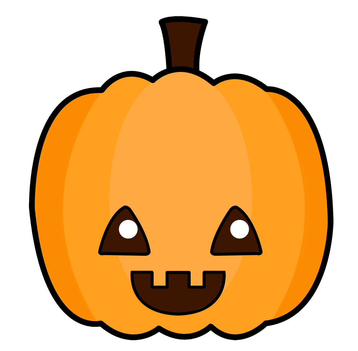 Cute Pumpkin Clipart #22598