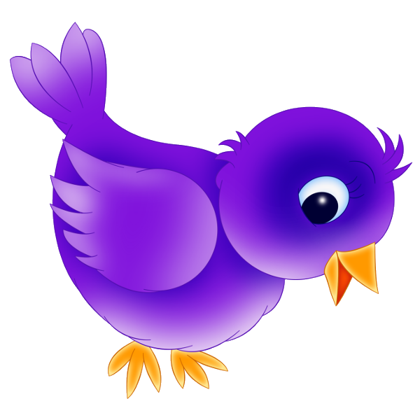 Cute purple bird clip art dromggd top 2