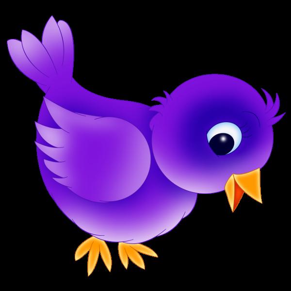 Cute purple bird clip art dromggd top 2
