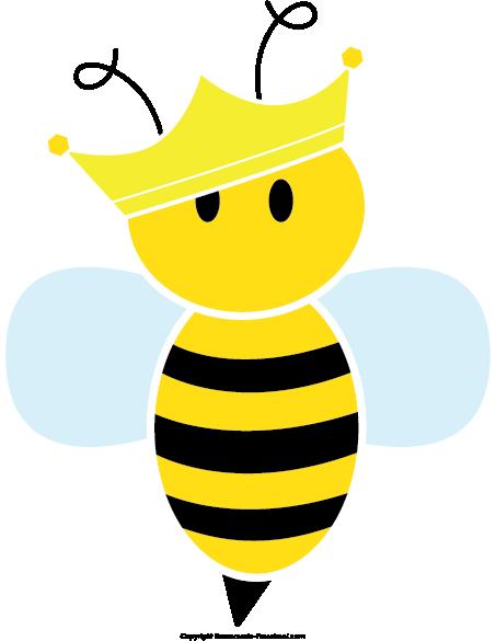 Cute Queen Bee Clipart