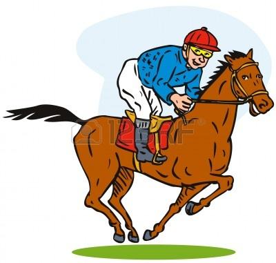 Cute Race Horses Clipart